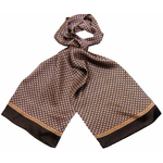 foulard soie homme chocolat lucas 2