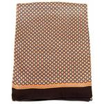 foulard soie homme chocolat lucas 1