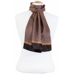 foulard soie homme chocolat lucas 3