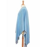 poncho bleu gris réversible 2