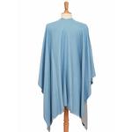 poncho bleu gris réversible 3