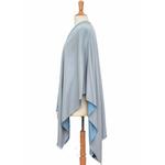 poncho bleu gris réversible 5