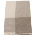 Etole cachemire laine beige carreaux 1