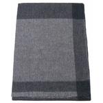 Etole cachemire laine gris carreaux 1