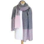 Etole cachemire laine rose carreaux 3