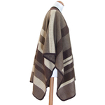 poncho laine beige rayures Jeanne 2