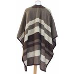 poncho laine beige rayures Jeanne 3