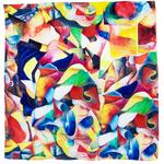 carré soie multicolore elis 1