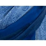 etole pashmina bleu marine rayures 3