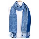 etole pashmina bleu marine rayures 4