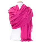 étole rose fushia cachemire laine charlie 5