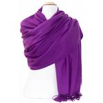 étole violet cachemire laine charlie 5