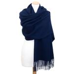 étole laine bleu marine 2