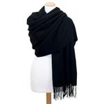 étole laine noir 2