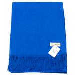 étole laine bleu vif 1