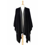 poncho noir gris réversible 1