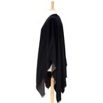 poncho noir gris réversible 3