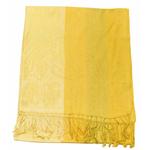 étole jaune pashmina motifs rayures 1