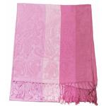 étole rose pashmina motifs rayures 1