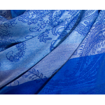étole bleu vif  pashmina motifs rayures 4