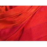 étole rouge orange pashmina motifs rayures 4
