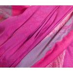 étole pashmina rose fushia motifs 3