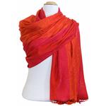 étole pashmina rouge orange motifs 5