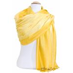 étole pashmina jaune motifs 5