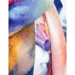 foulard écharpe soie bleu pintina  4