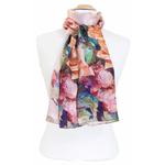 foulard écharpe soie rose flovina 3