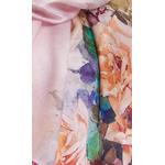 foulard écharpe soie rose flovina 4