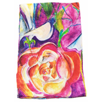 foulard écharpe soie rouge lia 2