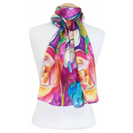 foulard écharpe soie rouge lia 4