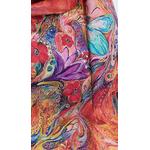 foulard écharpe soie rouge papillons 2