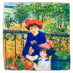 carré en soie les deux sœurs Ausguste Renoir 1