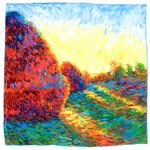 carré en soie les meules a Giverny Claude Monet 1