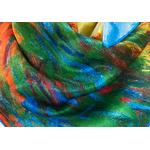 carré en soie les meules a Giverny Claude Monet 3