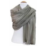 étole foulard taupe soie fine Alex 1
