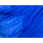 étole foulard bleu vif soie fine Alex 2