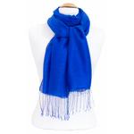 étole foulard bleu vif soie fine Alex 3