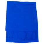 étole foulard bleu vif soie fine Alex 4
