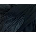 étole foulard noir soie fine Alex  3