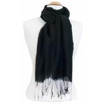 étole foulard noir soie fine Alex  4