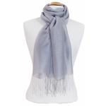 étole foulard gris  soie fine Alex 4