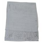 étole foulard gris soie fine Alex 1