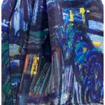 foulard écharpe soie bleu nocturne 2