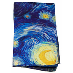 foulard écharpe soie bleu nocturne 4