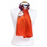 foulard écharpe soie orange lotus 4