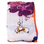 foulard écharpe soie orange lotus 3