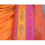 étole orange pashmina motifs 2
